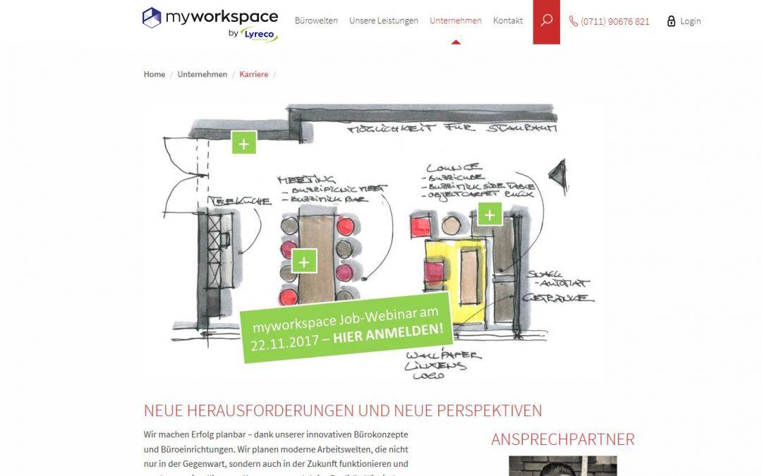 Neue Karriereseite mit Job-Webinar – werden Sie Teil von myworkspace!