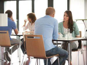 Büroküche für gemeinsame Gespräche nutzen