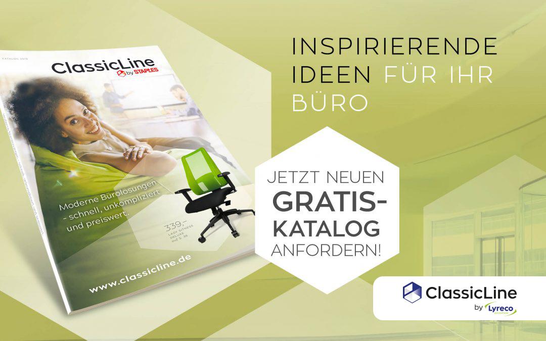 Bestellen Sie den neuen ClassicLine-Büromöbelkatalog 2018!