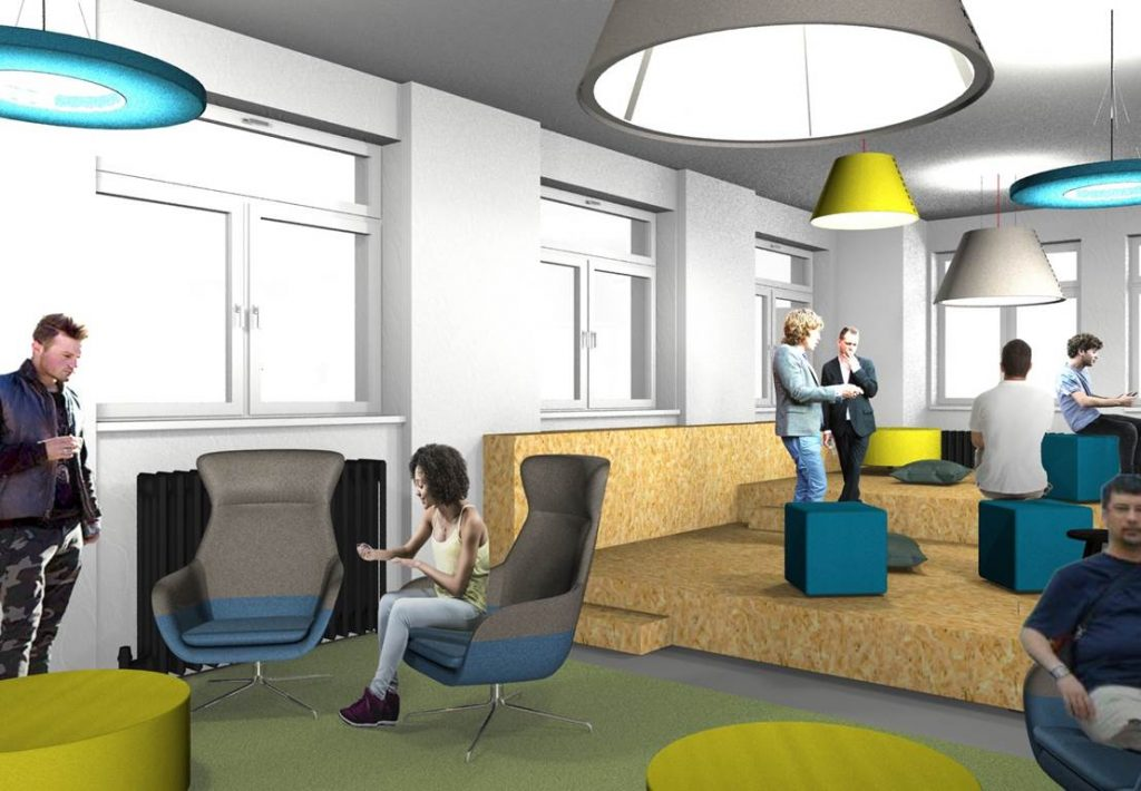 Innovatives Bürokonzept im Corporate Design