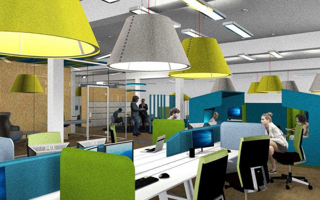 Arbeitsplatzkonzept für neue Büroräume der code'n'ground AG